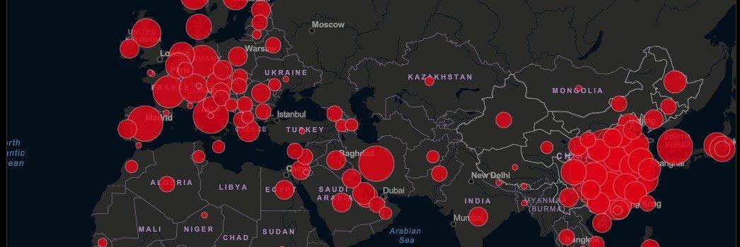 Weltweit gemeldete Infektionsfälle